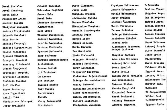 lista Galerii Repassage frqgment